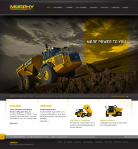 Murphy Tractor Website Homepage