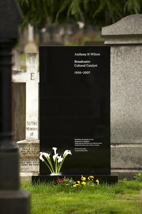 Tony Wilson Headstone