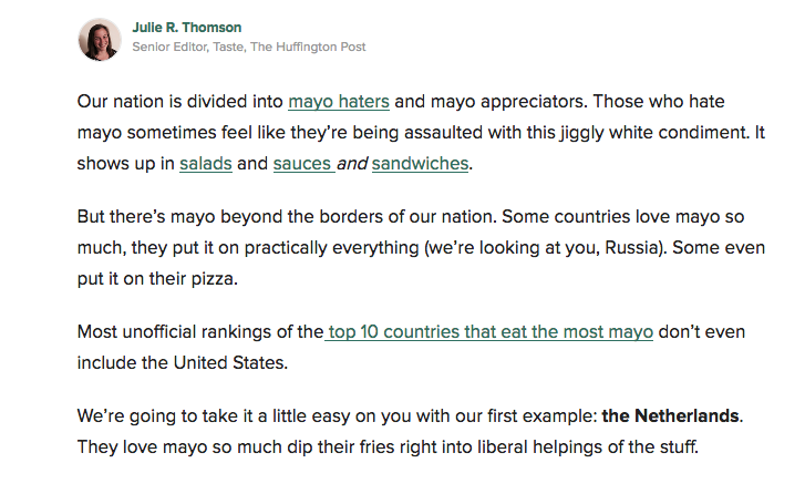 See what Huffington Post's reading level looks like.