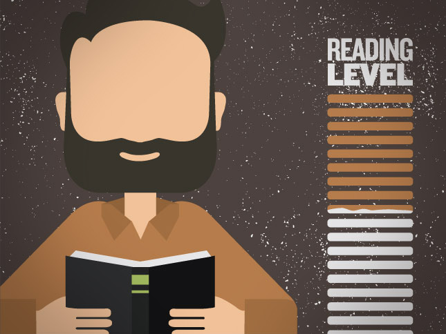 Faceless Man Reads a Book and Learns About Reading Level