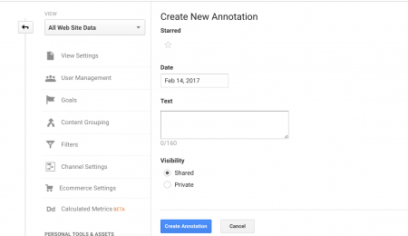 Add annotations for Google Analytics.