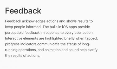 Feedback design principle.