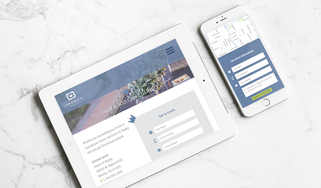 Example of Crown III Realty's responsive website design by Entermotion