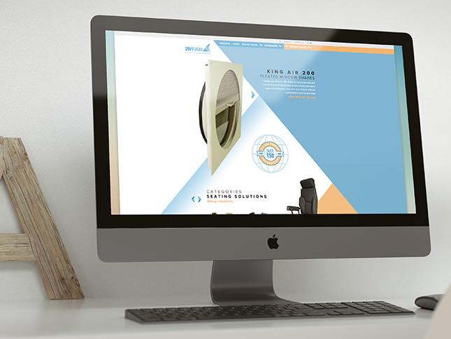 Example of corporate web design by Entermotion design studio.