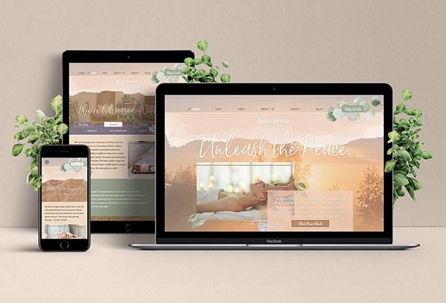 Display of Beau Monde Spa's site, designed by Entermotion, Wichita's web design studio.